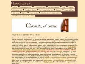 Chocolate Fantasy Fountains